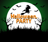 Halloween Party background green vector