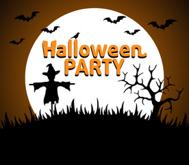 Halloween Party background orange vector