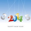 Happy New Year 3D color 2014 vector