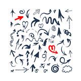 Arrows sketch set for your design