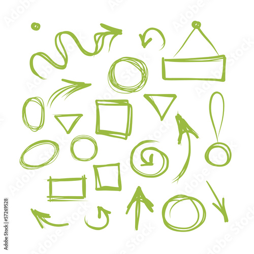 Arrows and frames, sketch for your design