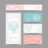 Business cards design, weddign concept