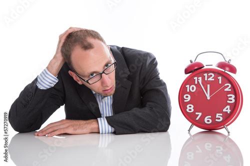 Manager im Stress, Zeitmangel, Zeitdruck, krank - burnout