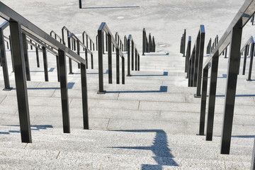 iron railings with stone steps