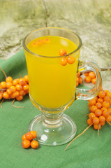 Fruit sea-buckthorn drink