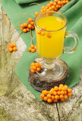 Hot fruit sea-buckthorn drink