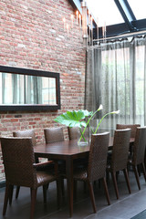 Modern dining room seating
