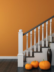 Stairs with a festive decoration