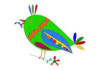 Pájaro en color