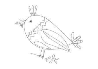 Pájaro en blanco