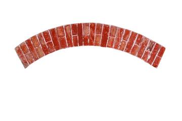 Bogen aus Ziegelsteinen, Fensterbogen