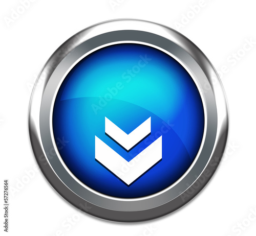 unique download button icon isolated in white