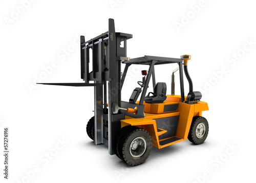 Forklift Lift truck isolated on white background