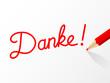 """""""DANKE"""" Karte (Vielen Dank Freundlichkeit Schön Sehr Bild)"""