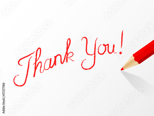 THANK YOU written in red pencil (very much thanks)