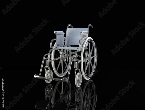 wheelchair  isolated on black background