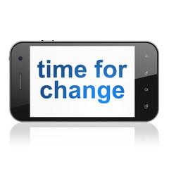 Timeline concept: Time for Change on smartphone
