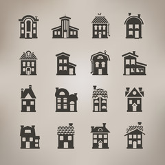 House icons. Vector format