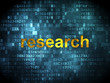 Advertising concept: Research on digital background