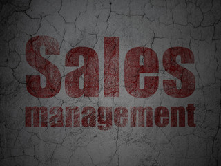 Marketing concept: Sales Management on grunge wall background