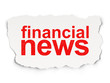News concept: Financial News on Paper background