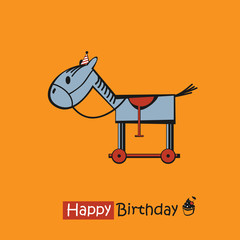 Happy Birthday smile horse
