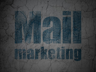 Marketing concept: Mail Marketing on grunge wall background