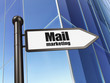 Marketing concept: Mail Marketing on Building background