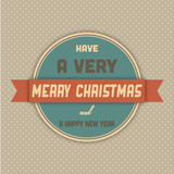 Retro Merry Christmas Sign