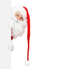 Santa und seine lange rote Mütze