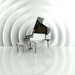 Flügel, Piano, Musik, Sound