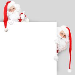 Weihnachtsmänner Einladungskarte
