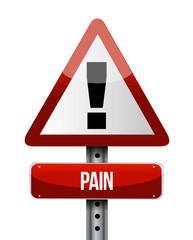 pain road sign illustrations design