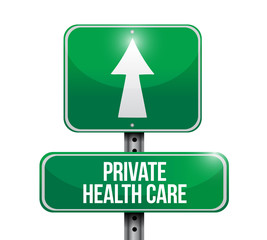 private health care road sign illustrations
