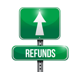 refunds road sign illustrations design