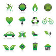 Set of environmental green icons Vector Illustration.