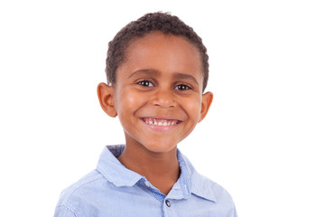 African American boy looking  - Black people
