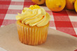 Cupcake with lemon frosting