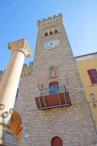 Italy, Bertinoro clock tower