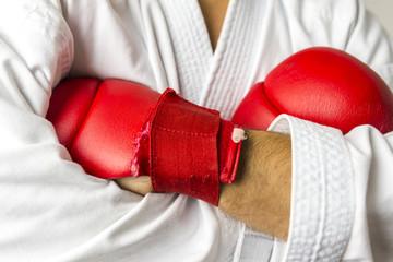 Kickboxer arms crossed