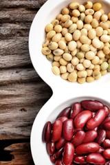 soy bean and azuki bean