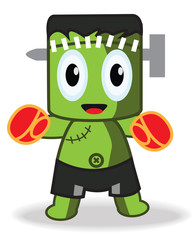 Cute Frankenstein Boxing