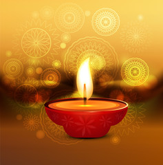 Diwali background colorful artistic vector illustration