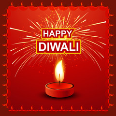 Diwali Lamp fantastic colorful Background vector