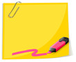 A yellow empty template with a highlighter