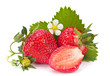 Strawberry with blossom flower