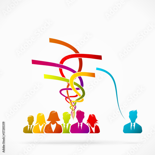 Abstract logo about sharing, concept vector illustration