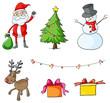 Different christmas symbols
