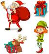 Four christmas symbols
