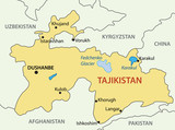 Republic of Tajikistan - vector map